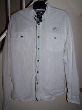 men's size large Harley-Davidson white shirt/long sleeve/button front
