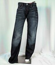 FIRETRAP [NEW] Dark Blue Faded Effect Comfort Fit Man Jeans