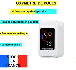 Oxymètre de pouls  SATURATION EN OXYGENE FREQUENCE CARDIAQUE AVEC LANIERE NEUF