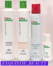 CHI enviro Smoothing treatment kit Highlighted Or Porous SHAMPOO, SPRAY,SERUm