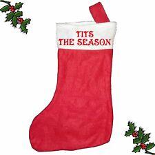 T1TS THE SEASON Xmas Santa Stocking Printed Festive Father Christmas Customised