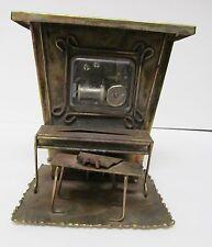 Sankyo Piano Music Box w Moving Roller Tin Copper Metal Vintage