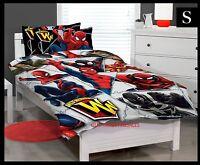 SINGLE BED SPIDERMAN KIDS SUPER HERO LICENSED QUILT DOONA COVER SET + PILLOWCASE
