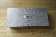 UMCO old fishing tackle equipment  aluminum quality made tackle box, bobber box