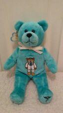 "The Original Holy Bear Teal Plush Bean Bag Physician with Tag 9"""