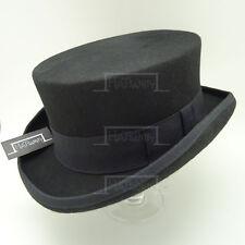 VINTAGE Wool Felt Topper Top Hat Men Gentlemen Tuxedo Coachman | 61cm | Black
