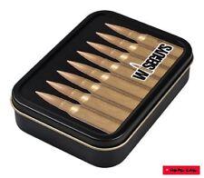 Square box lata de metal con tapa (hermético) motivo Wiseguys municiones/cartuchos