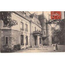 Cartes postale anciennes FLACE-LES-MACON château siraudin timbrée 1914