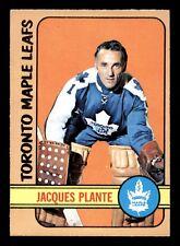 JACQUES PLANTE 72-73 O-PEE-CHEE 1972-73 NO 92 NRMINT+ 18053