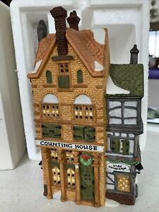 """Dept. 56 DICKENS' VILLAGE: """"Silas Thimbleton Barrister & Counting House"""" EUC"""