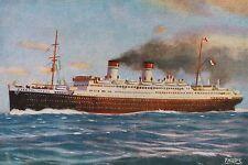 27430 PC ship ITALIA Flotte Riunite Cosulich Lloyd Sabaudo Mediterraneo -America