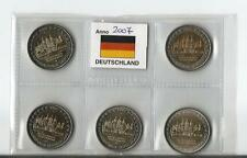 2 euro commemorativo Germania 2007   5 ZECCHE- Mecklenburg-Vorpommern