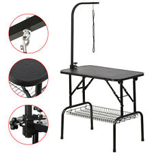 "32"" Large Pet Grooming Foldable Table Dog Cat Adjustable ARM Noose Groom"