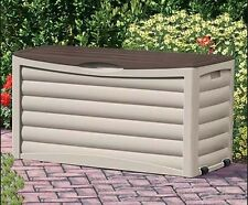 Deck Box 83 Gallon Patio Pool Storage Multicolor Resin Outdoor Water Resistant