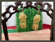 miao silver tassels earring 1pair Retro palace Tribal handmade filigree gilt