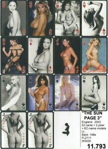 Spielkarten playing cards Pin-Up adult Nude Erotic Sexy erotik  GB 2003 E 11.793