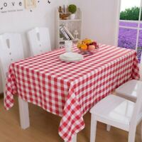 Country Gingham Tablecloth Dining Kitchen Table Cover Protector Tableware Modern
