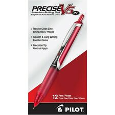 26064 Pilot Precise V5 RT Rollingball Pen, Ex Fine 0.5mm, Red, Pack of 36