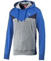 Men's New Puma Hooded Sweatshirt Hoodie Hoody Jumper Pullover Top - Blue Grey