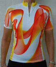 Jaggad Cycling Bike Sleeve  Jersey Mens Womens Orange Slim Fit S M L XL XXL 127#