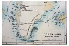 1889 Nansen - FIRST CROSSING OF GREENLAND - Pre-Dates Book - COLOR MAP - 08