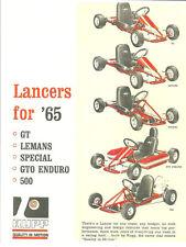 Vintage Rare 1965 Rupp Lancer Go-Kart Ad