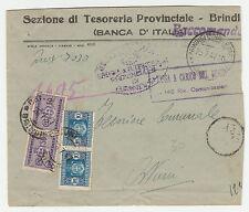 STORIA POSTALE 1947 REPUBBLICA SEGNATASSE COPPI 50 C.+L.10 SU BUSTA Z/1035