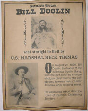 Bill Doolin Shot Dead by Marshal Heck Thomas Poster, old west, western, wanted