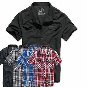 Herren Freizeit Hemd Brandit Roadstar Shirt Halbarm 1/2 Sleeve Sommer Baumwolle