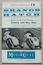 Brands Hatch 13 MAGGIO 1962 Motore Ciclo ROAD RACING PROGRAMMA UFFICIALE