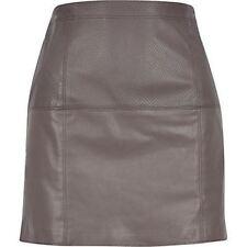 Gonne e minigonne da donna marrone in pelle Taglia 46