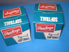 2 Rawlings Official Softballs Sp112 new in A Box cork centers 01M3