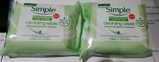 (2) Simple Kind To Skin Sensitive Cleansing Wipes Brand New Free Shipping