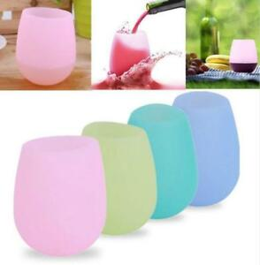 Silicone Wine Glasses Cup Unbreakable Drinking Cup Flexible Beer Cups FB