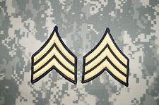 Military Patch US Army Sergeant E-5 Rank Dress Uniform Sew on Stripes