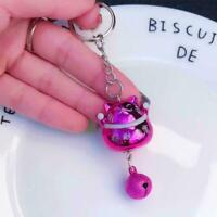 Kawaii Fortune Lucky Cat Maneki Keyring Keychain With Bag Keychain Car W4H2 S2F7