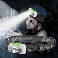 Rechargeable Headlight Headlamp Lamp Torch Flashlight Waterproof USB Zoom LED
