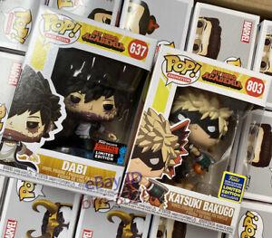 Funko Pop! My Hero Academia Dabi #637 Katsuki Bakugo #803 Exclusive w/Protector