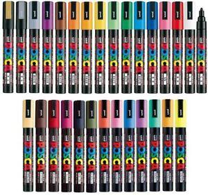 Posca Uni Paint Marker Pen - Med Point - 35 Color Set (5M) INCLUDES FREE PAD