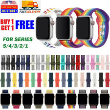 Silicone Ruber Nylon Loop Sport Band For Nike+ Apple Watch iWatch 38/40/44/42mm