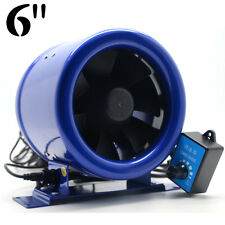 "6"" Inline EC Duct Fan w/Speed Controller Exhaust Blower Six Inch 300CFM powerful"