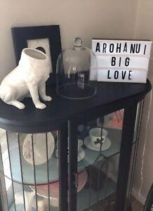 Porcelain Dog Vase Organizer Outdoor Space Saver Home Decor Gift