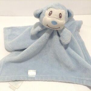 Honey Bunny Blue Monkey Security Blanket Lovey Plush