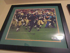 Lou Holtz Signed & Framed  Running  Field with Taylor, Mayes,and Young 16 x 20