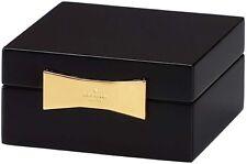 Kate Spade Lenox GARDEN DRIVE Black Lacquer Square Jewelry Box Golden Clasp New