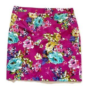 Charter Club Floral Print Pencil Skirt Lined Back Zipper Slit Career Plus Size 1