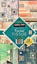 """""""NEW"""" Kirkland Signature 2-Ply Facial Tissue, Unscented, 90 count, 12 Boxes"""