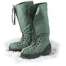 VINTAGE MILITARY LIGHT GREEN LARGE EXTREME COLD WEATHER MUKLUK BOOTS N-1B