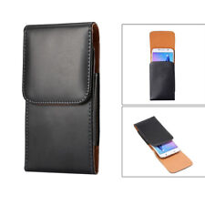 PU Leather Belt Clip Holster Black Case Carrying Pouch Cover phones Pouch