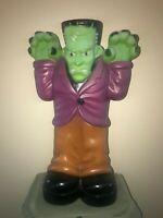 """Vintage 36"""" Halloween Frankenstein Lighted Blow Mold Yard Decoration"""